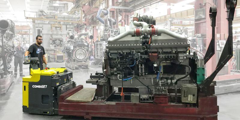 Hubwagen Combilift Materialtransport