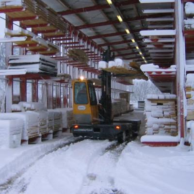 Im Schnee mit Allradantrieb